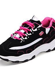 Sapatos Corrida Feminino Preto / Rosa Tule / Courino