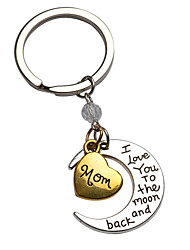 Hot Selling Jewelry For Family I Love You Sister Lucky Pendant Key Chain Heart Moon Pendant Keychain