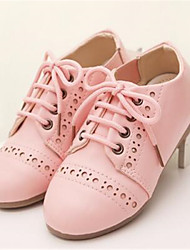 Girls' Shoes Outdoor / Casual Peep Toe Faux Leather Oxfords Pink