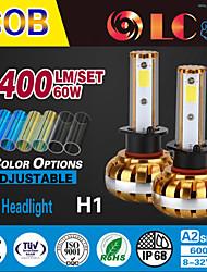 liancheng® 60w 6400lm 9 ~ 32V высокой яркости COB светодиодные фары комплект-h1 для автомобиля, внедорожных, UTV, квадроциклов