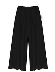 Women's Solid Black Loose Pants , Casual / Day