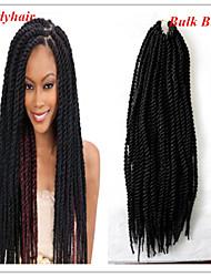 #1B Senegal Haarverlängerungen 20 Kanekalon 2 Strand 160 Gramm Haar Borten