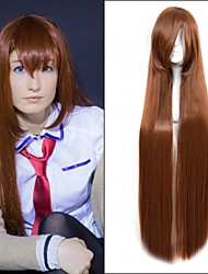 Hot Selling ! European Long Straight Wigs Brown Color Synthetic Wigs