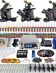 Solong Tattoo Complete Beginner Tattoo Kit 3 Pro Machines 54 Inks Power Supply Needle Grips Tips TKC01