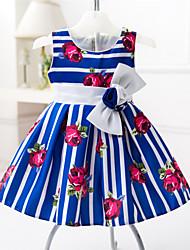 Vestido Chica de - Verano - Algodón - Negro / Azul