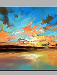 картина маслом современной абстрактной чисто ручной рисовать готовы повесить декоративную море растворился в небе