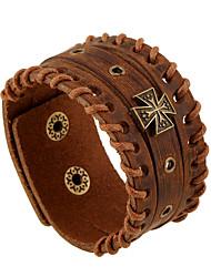 Муж. Кожаные браслеты Уникальный дизайн Мода Бижутерия Бижутерия 1шт