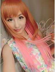 косплей Лолиты дешевые парики многоцветной моды красоты прямые синтетические волосы