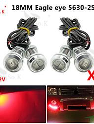 4x 18mm 9WLED ojo de águila auto de reserva de marcha diurna DRL luz de niebla auto 12v rojo