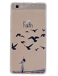padrão de fé alívio magro capinha de telefone material de TPU para p8 Huawei Lite