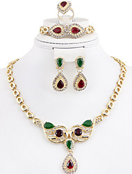 May Polly  The Middle East and Africa are gilded crystal necklace earrings bracelet ring banquet set