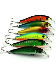 """6pcs pcs kleiner Fisch Zufällige Farben 8.9g g/5/16 Unze,85 mm/3-5/16"""" Zoll,Fester KunststoffSeefischerei / Fischen im Süßwasser /"""