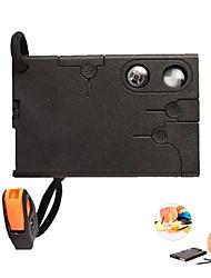 18 in1 Multifunktions-Outdoor-Survival-Kartentasche knive Werkzeug - schwarz
