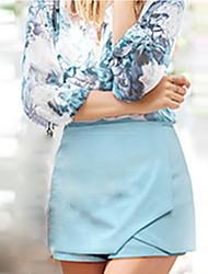 De las mujeres Faldas-Mini Casual Microelástico-Otro