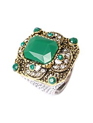 Women's Fashion Fully-jewelled Ring With Packaging Box