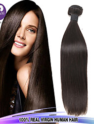 "3pcs/Lot 8""-30"" Mix Size Color #1B Malaysian Straight Virgin Human Hair Extensions Bundles Thick & Soft"
