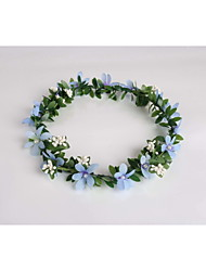 Women's / Flower Girl's Fabric / Plastic Headpiece - Wedding / Special Occasion / Casual Wreaths 1 Piece