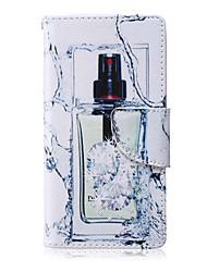 узор флакон духов пу кожаный материал случая телефона для галактики Самсунга a3 / a5