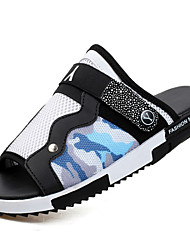 Men's Shoes Outdoor / Party & Evening / Athletic / Dress / Casual Synthetic / Tulle Slippers Black / Blue / Green