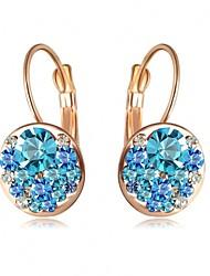 Full Austria Crystal Stud Earrings for Women Shining Earrings Fashion Jewelry Accessories