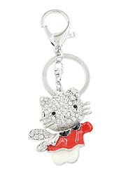 moda set vaquinha bonito do cristal de rocha com óculos chave anel / acessório bolsa