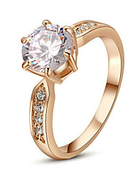 Ring Fashion Wedding / Party Jewelry Alloy Women Statement Rings 1pc,One Size Silver / Rose Gold