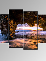 VISUAL STAR®Sea Sunrise Canvas Wall Art Modern Wall Decor Canvas Art Ready to Hang