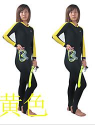Autres Femme Tenue de plongée Etanche / Respirable / Résistant aux ultraviolets Costumes humides 1.5 à 1.9 mm Jaune JauneS / M / L / XL /