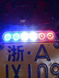 Three Colors Flashing Light Fixed above the License Plate for Motorcycle Automobile