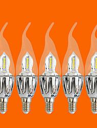 5 pcs fsl®5w e14 conduit bougies C35 20 cms 3528 440 lm chaud ac décoratif blanc 220-240 v