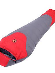 Saco de dormir Tipo Múmia Solteiro (L150 cm x C200 cm) -5℃ Penas de Pato 800g 210X80 Campismo Mantenha Quente CAMEL