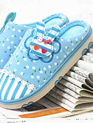 Women's Shoes Cotton Flat Heel Slippers / Round Toe Slippers Casual Multi-color