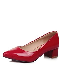 Women's Shoes Leatherette Chunky Heel Heels Heels Outdoor / Office & Career / Party & Evening Black / Red / Beige