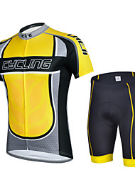 CHEJI Men Summer Breathable Quick Dry Shorts Sleeve Cycling Jersey Shorts Set Padded