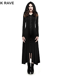 Q-290 Punk Gothic Knitted Slim Long Sleeves Hooded Evening Dresses