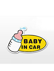 Funny  Baby in car Car Sticker Car Window Wall Decal Car Styling (1pcs)