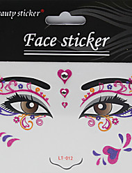 Halloween 1PC Fashion Makeup Face Art Waterproof Tattoo Sticker