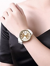 Ms Fashion Leather Stainless Steel Quartz Watch Cool Watches Unique Watches