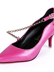 Women's Shoes Low Heel Pointed Toe Heels Dress Black / Fuchsia / Taupe
