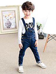Boy's Cotton Super Fall /Spring Fashion  Pocket  Cowboy Straps Trousers