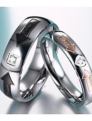 aaa zirkonium drill pijl hartvormige liefhebbers ring