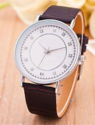 Women's  Fashion  Simplicity Rhinestone Quartz  Leather Lady Watch Cool Watches Unique Watches