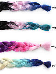 Anime Cosplay Wig Color Chemical Fiber Braid African Black Wig Three Color Gradients