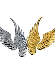 ZIQIAO Car Styling Metal Large Wings Affixed 3D Personality Modification Car Sticker
