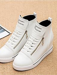Zapatos de mujer-Plataforma-Plataforma-Zapatos de Deporte-Exterior / Casual / Deporte-PVC-Negro / Rojo / Blanco