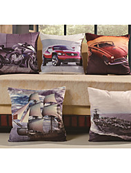 Baolisi Set of 5 3D World's cars Decorative Pillow /Children of the World