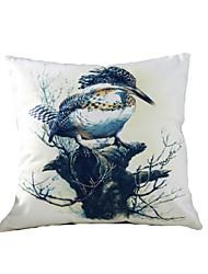3D Design Print Birds Titmouse Decorative Throw Pillow Case Cushion Cover for Sofa Home Decor Polyester Soft Material