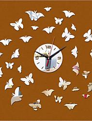 New Acrylic DIY 3D Mirror Home Decor Butterfly Clock Mirror Surface Stickers