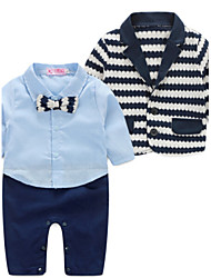 Boy's Cotton Clothing Set,Spring Striped