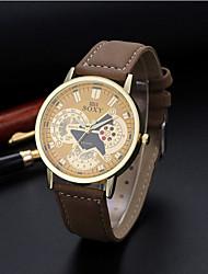 Men's SOKY watch Quartz Waterproof Sports Watch Hollow Engraving PU Skeleton Watch(Assorted Color) Wrist Watch Cool Watch Unique Watch